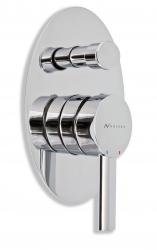 NOVASERVIS - Vanová sprchová baterie s přepínačem OVAL chrom (32050R,0)