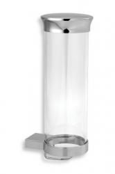NOVASERVIS - Zásobník na kosmetické tampony sklo Metalia 9 chrom (0972,0)