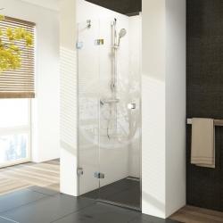 RAVAK - Brilliant Sprchové dveře dvoudílné BSD2-80 L, 790-805 mm, levé, chrom/čiré sklo (0UL4AA00Z1)