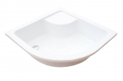 RAVAK - Minivana Hluboká sprchová vanička Sabina 90-LA, 900x900 mm, AntiBac, bílá (A217001020)