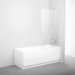 RAVAK - Pivot Vanová zástěna jednodílná PVS1, 800x1400 mm, lesklý hliník/čiré sklo (79840C00Z1)