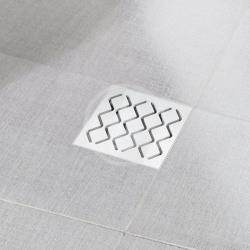 RAVAK - Příslušenství Plastová podlahová vpusť s nerezovou mřížkou SN501, 105 mm (X01435)