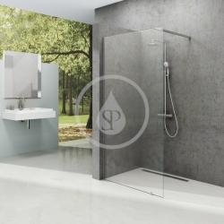 RAVAK - Walk-In Sprchová stěna Walk-In Wall 140, 1400x2000 mm, lesklý hliník/čiré sklo (GW9WM0C00Z1)