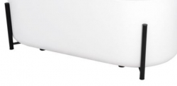 REA - Dekorativní černý podstavec pro vany Molto REA-W0600