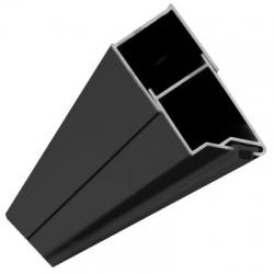 REA - Magnetický uzavírací profil pro dveře Molier černý (REA-K6395)