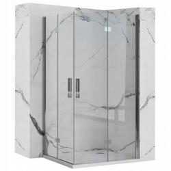 REA/S - Sprchový kout MOLIER dveře/dveře 80X100 (MOLDD080100)
