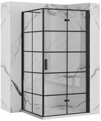 REA/S - Sprchový kout MOLIER dveře/stěna 90X80 BLACK (MOLDS090080B)