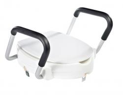 RIDDER - WC sedátko zvýšené 10cm, s madly, bílá (A0072001) 2. jakost