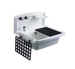 Sanit Držák na mýdlo bílý k výlevce plast Multiset 60006000099 (60A03010099)
