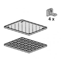 Sanit Odkládací souprava pro výlevku Multiset - rošt, háčky a upevňovací příslušenství (60006000099)