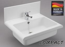 Sanit Umyvadlo plast bílá COMPACT / LINEO 550x450x165 60009010099 (60009010099)