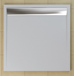 SanSwiss vanička ILA čtverec bílá 100x100x3,5 cm kryt aluchrom WIQ1005004 (WIQ1005004)