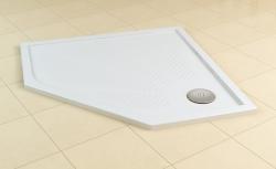 SanSwiss vanička MARBLEMATE 5-úhelník bílá 90x90x3 cm (WM5636090004)