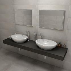 SAPHO - KIRA ceramica deska 190x50 cm, provedení límce C (KR190C)