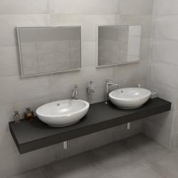 SAPHO - KIRA ceramica deska 190x50 cm, provedení límce L (KR190L)