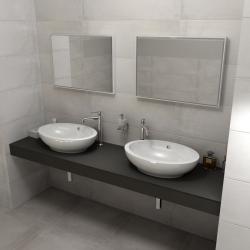 SAPHO - KIRA ceramica deska 210x50 cm, provedení límce F (KR210F)