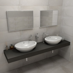 SAPHO - KIRA ceramica deska 210x50 cm, provedení límce L (KR210L)