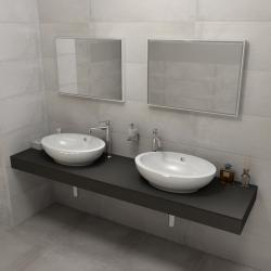SAPHO - KIRA ceramica deska 210x50 cm, provedení límce R (KR210R)