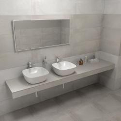 SAPHO - KIRA ceramica deska 220x50 cm, provedení límce L (KR220L)