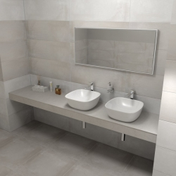 SAPHO - KIRA ceramica deska 230x50 cm, provedení límce F (KR230F)