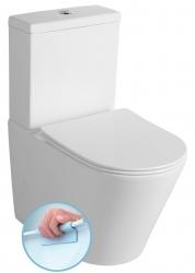 SAPHO - PACO WC kombi Rimless + Slim Soft Close sedátko, spodní/zadní odpad, bílá (PC1012R)