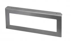 SAPHO - Podpěrná konzole 490x200x35mm, metalická stříbrná, levá (VC316)