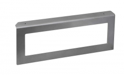 SAPHO - Podpěrná konzole 490x200x35mm, metalická stříbrná, pravá (VC315)