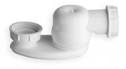 """SILFRA - Sifon s převlečnou matkou 1""""1/2, výška 42mm, bílá (AS07800)"""