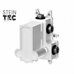 STEINBERG - Podomítkové montážní těleso pro termostatické baterie, 3-cestné, kartáčovaný nikl (010 4130 BN)