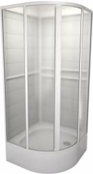 TEIKO sprchový box čtvrtkruhový SBOXKH 2/90 PEARL BÍLÝ 90x90x185 (V323090N51T22001)