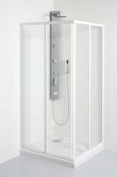 TEIKO sprchový kout čtvercový SKRH 2/80 PEARL BÍLÝ 80x80x185 (V331080N51T12001)