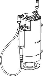 Vypouštěcí ventil WC moduly SANIT s dvou bovdenovým ovládáním, starý typ   SA01220000000 (SA01220000000)