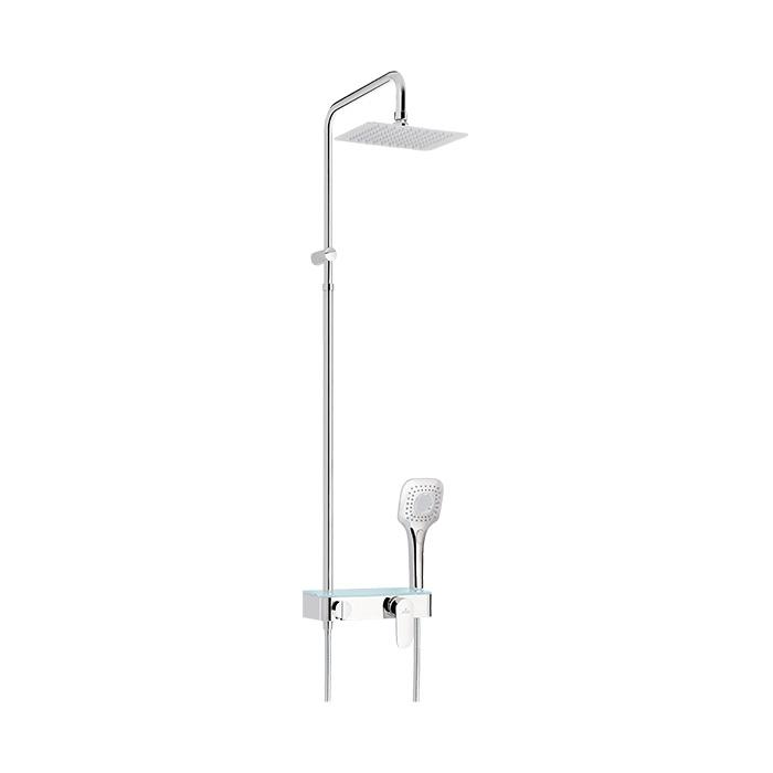 Sprchový komplet s pákovou směšovací baterií Loitz 01WM   A-Interiéry (loitz 01wm)