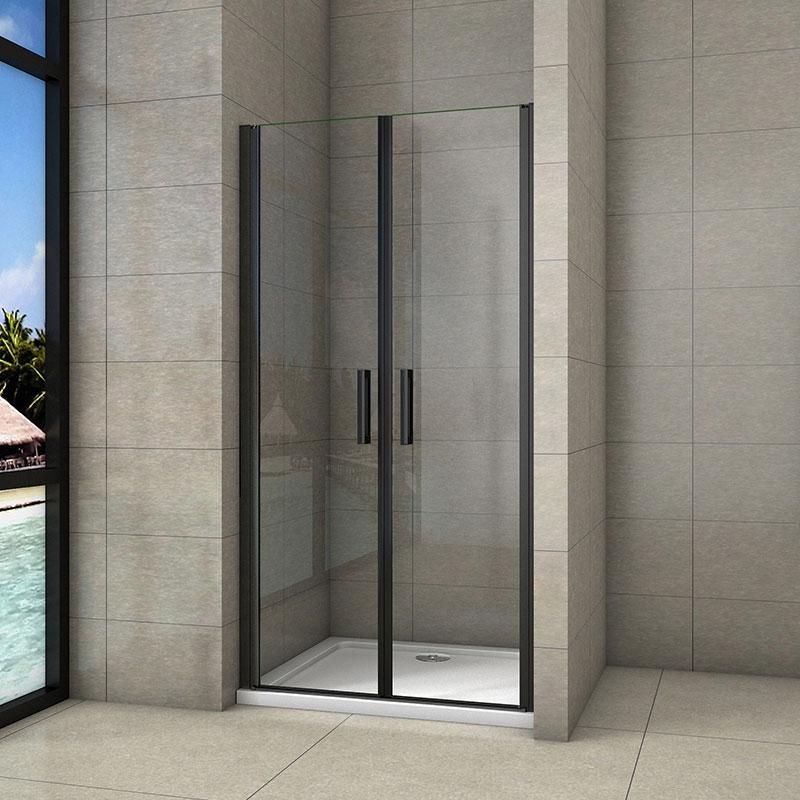 STACATO - MINEBLACK LINE otočné sprchové dveře dvoukřídlé 1000mm (SLB210)